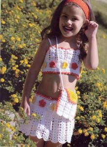 crochet dress for little girls on the summer