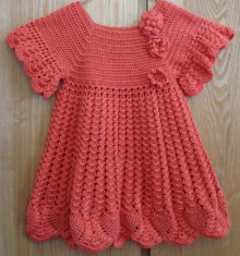 crochet fashion for kids: crochet baby dresses