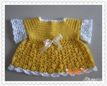 crochet fashion for kids: crochet dress for small baby