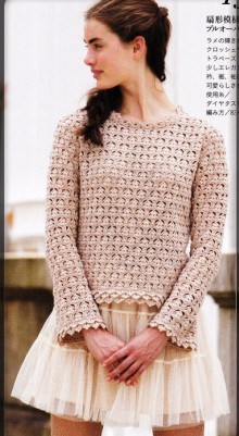 crochet lace sweater for summer