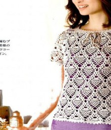 crochet pineapple tunic