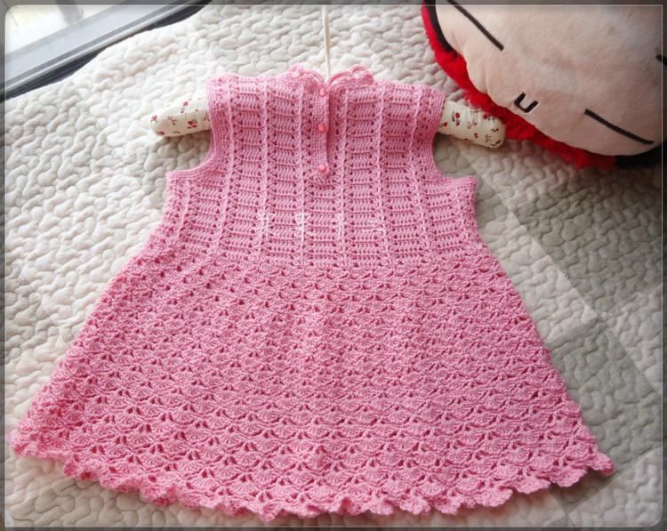 Crochet Pink Dress For Baby Girl Make Handmade Crochet Craft