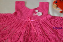 crochet spring and summer dress for baby girls