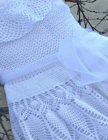 crochet white dress for little girl