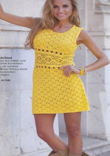 knitting and crochet cup dress for girls