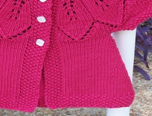 knitting cute dress for little baby
