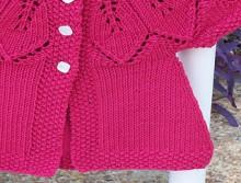 knitting cute dress for little baby