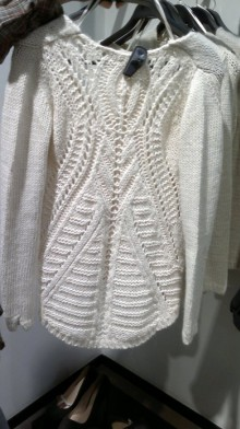 knitting cute ivory sweater for women