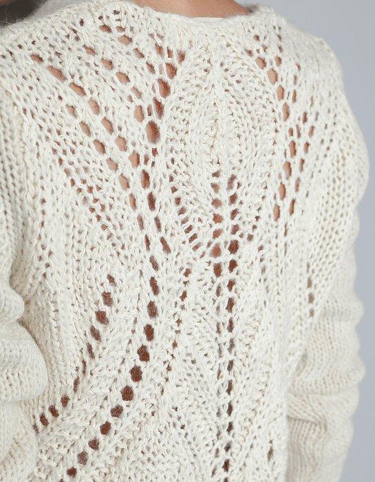 白色针织镂空长袖 - 荷塘秀色 - 茶之韵
