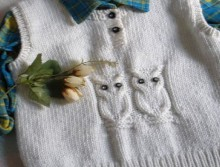 knitting owl sweater for baby