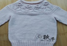 knitting pretty sweater for baby girl