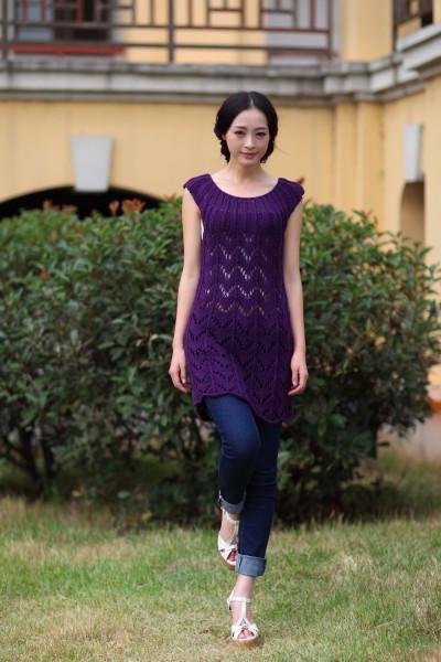 Violet Dress Knitting Pattern : knitting purple and lilac dress make handmade, crochet, craft