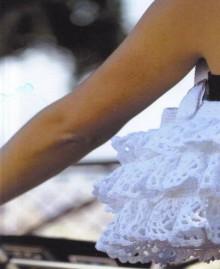 crochet cute ruffled bag for streetwear