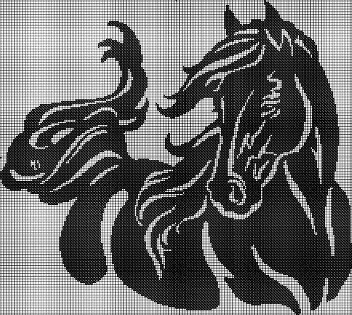 лошадь моно 220x197 (700x626, 397Kb)