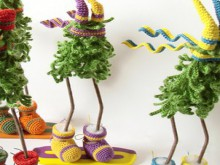 christmas craft ideas: funny and cute crochet christmas trees