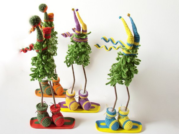 Christmas Craft Ideas Funny And Cute Crochet Trees