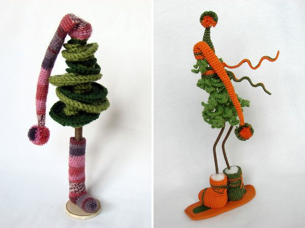 Christmas craft ideas funny and cute crochet christmas - Christmas tree craft ideas ...
