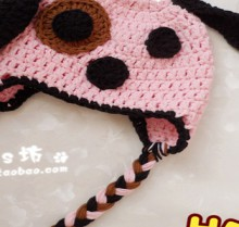 crochet baby hat: crochet dog face hat