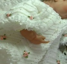crochet baby jacket and dress
