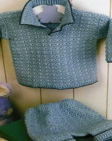 crochet baby jacket and shorts