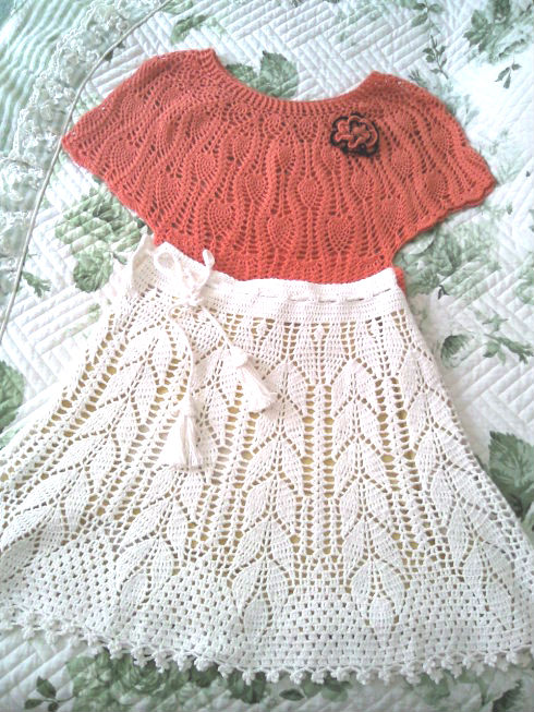 Crochet Baby Skirt With Leaves Shapes Make Handmade Crochet Craft