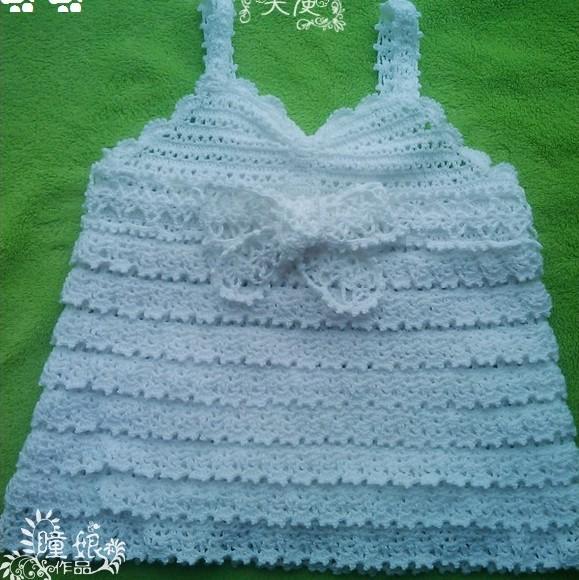 Crochet Baby Tank Top With Angel Wings Make Handmade Crochet Craft