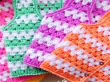 crochet baby vests