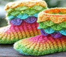crochet crocodile booties, video tutorial