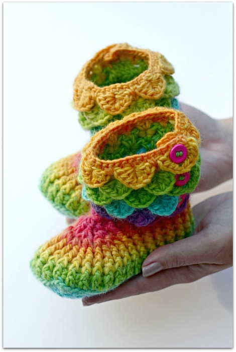 Crochet Pattern For Crocodile Stitch Baby Booties : crochet crocodile booties, video tutorial make handmade ...