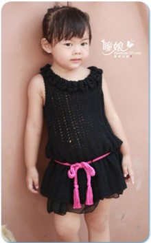 crochet cute baby dress