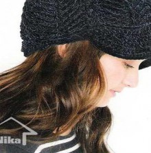 crochet brim with zigzac shape