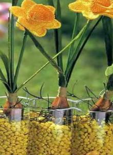 crochet daffodil flower