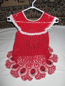crochet dress with ladybirds