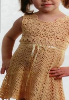 crochet flower baby dress