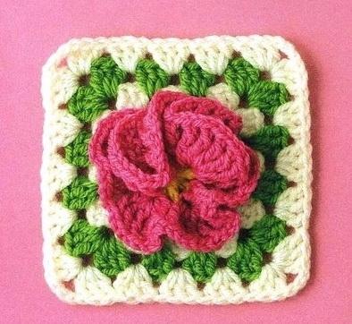 crochet flower granny squares | make handmade, crochet, craft