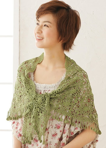 crochet flower shawl for ladies make handmade, crochet ...