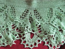 crochet green skirt for little girl