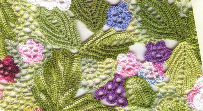 Crochet Irish Lace Blouse With Leaves And Flowers Make