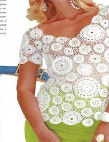 crochet irish lace fashion with circles