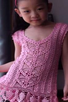 crochet lace girl dress