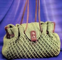 crochet ladies handbag, crochet pattern