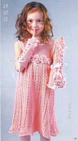 Crochet Patterns Little Girl Dresses : crochet leaves dress for little girl make handmade, crochet, craft