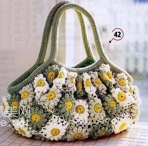 Crochet Flower Bag Pattern : crochet motif bags with flowers make handmade, crochet, craft