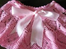 crochet pink pineapple skirt for girl