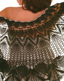 crochet pretty ladies shawl