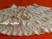crochet skirt with ruffles.