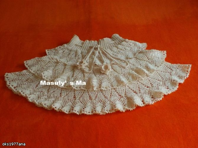 Crocheting Ruffles : crochet skirt with ruffles. make handmade, crochet, craft