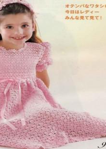 crochet spring dress for baby girl