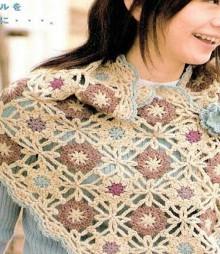 crochet squares poncho
