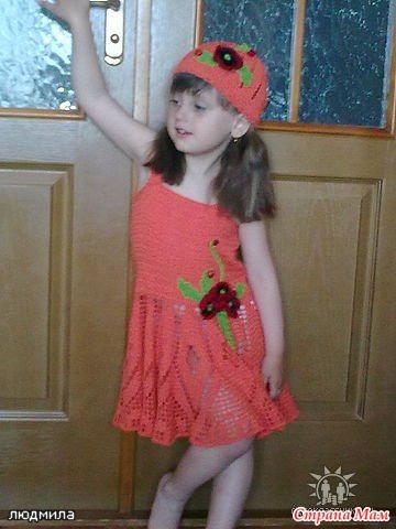 Crochet summer dress for little girl make handmade crochet craft